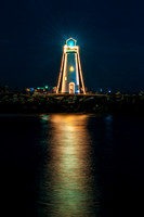 Walton Lighthouse at Christmas time.